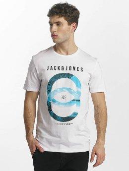 Jack & Jones T-paidat jcoSpring-Felling valkoinen