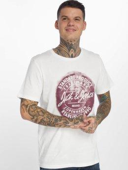 Jack & Jones T-paidat jorRejistood valkoinen