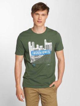 Jack & Jones T-paidat jcoFire vihreä