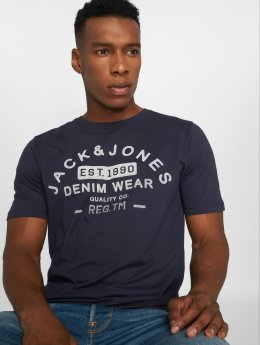 Jack & Jones T-shirt jjeJeans Print blå