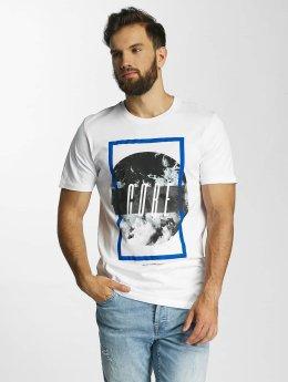 Jack & Jones T-Shirt jcoMango Fire blanc