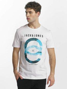 Jack & Jones T-Shirt jcoSpring-Felling blanc