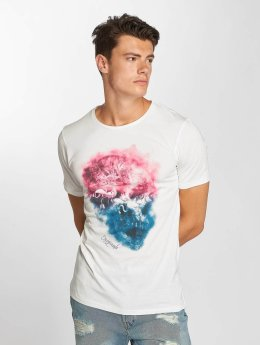 Jack & Jones T-Shirt jorSmokeskull blanc