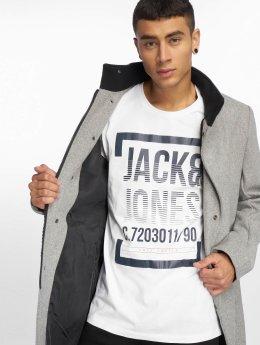 Jack & Jones T-Shirt jcoLines blanc