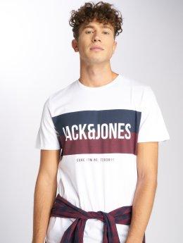 Jack & Jones T-Shirt jcoBlocking blanc