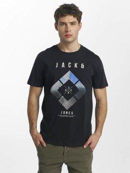 Jack & Jones T-Shirt jcoSpring blau