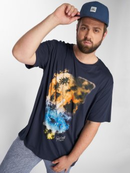 Jack & Jones T-Shirt jorSmokeskull blau