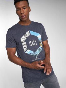 Jack & Jones T-Shirt jcoAutumn Feeling blau