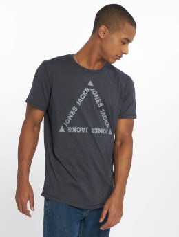 Jack & Jones T-Shirt jcoGel blau