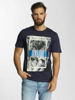 Jack & Jones T-Shirt jcoMango Fire bleu