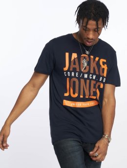 Jack & Jones T-Shirt jcoLines blue