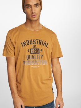 Jack & Jones T-Shirt jcoFlock Camp brown