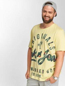 Jack & Jones t-shirt jorBacked geel