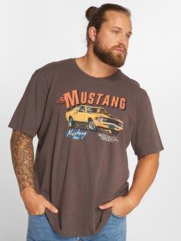 Jack & Jones T-Shirt jorMustang grau