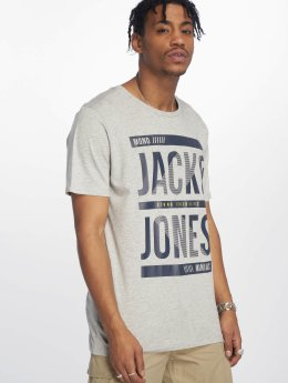 Jack & Jones T-Shirt jcoLines gray