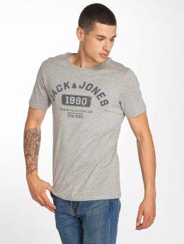 Jack & Jones jjeJeans Print T-Shirt Light Grey Melange