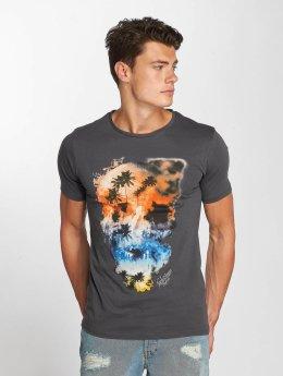Jack & Jones t-shirt jorSmokeskull grijs