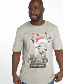 Jack & Jones t-shirt jorPhotoxmas grijs