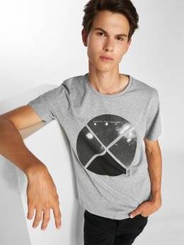 Jack & Jones T-Shirt jcoArc Crew Neck gris