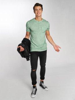 Jack & Jones T-Shirt jorCali Granddad grün