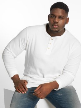 Jack & Jones T-Shirt manches longues Jprhenry Henley Ps blanc