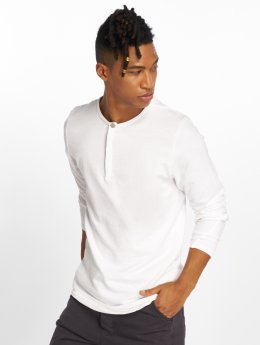 Jack & Jones T-Shirt manches longues Jprjaxon Henley blanc