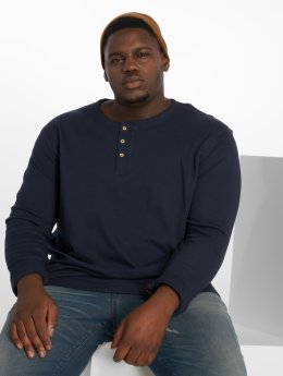 Jack & Jones T-Shirt manches longues Jprhenry Henley Ps bleu