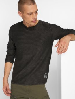 Jack & Jones T-Shirt manches longues Jorlaundry Knit gris
