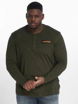 Jack & Jones T-Shirt manches longues jcoAnton vert