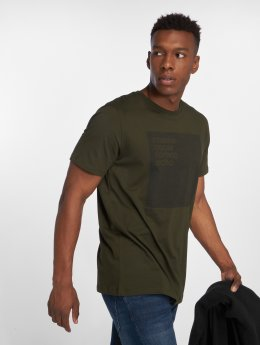 Jack & Jones t-shirt Jcovincents Camp olijfgroen