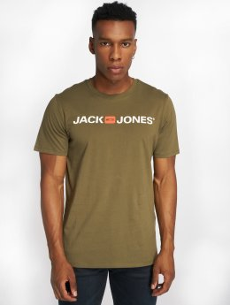 Jack & Jones T-Shirt jjeCorp Logo olive