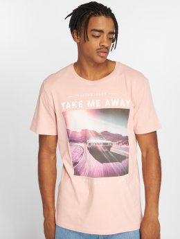 Jack & Jones t-shirt Jorfahren pink