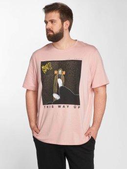 Jack & Jones T-Shirt jorCityoutline rosa