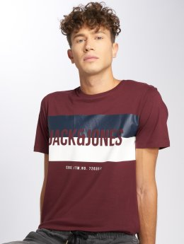 Jack & Jones T-Shirt jcoBlocking rot