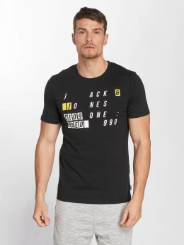 Jack & Jones T-Shirt jcoAtom Crew Neck schwarz