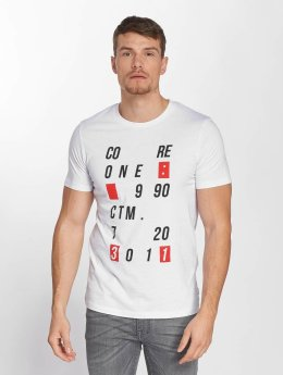Jack & Jones T-Shirt jcoAtom Crew Neck weiß