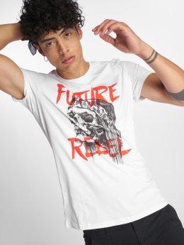 Jack & Jones T-Shirt Jorfestskull weiß