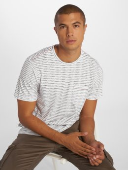 Jack & Jones T-Shirt jorTexturestripe weiß