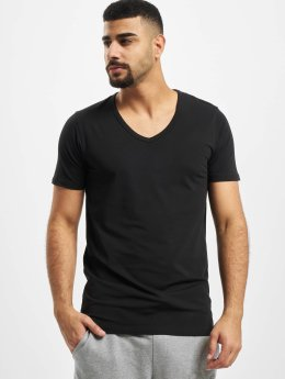 Jack & Jones T-Shirty Core Basic V-Neck czarny