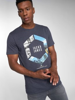 Jack & Jones T-Shirty jcoAutumn Feeling niebieski