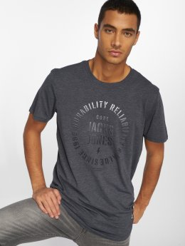 Jack & Jones T-Shirty jcoFlock Camp niebieski