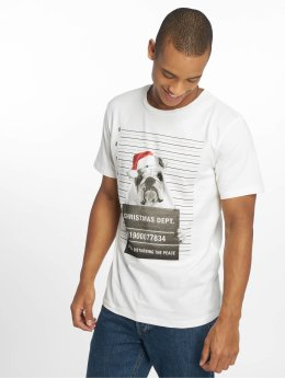 Jack & Jones T-skjorter jorPhotoxmas  hvit