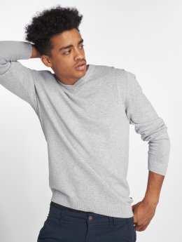 Jack & Jones trui jjeBasic Knit grijs