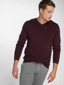 Jack & Jones trui jjeBasic Knit rood