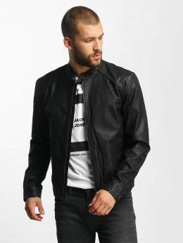 Jack & Jones Veste & Blouson en cuir jjorOriginals PU Leather noir