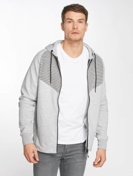 Jack & Jones Zip Hoodie jcoDonde Easter grau