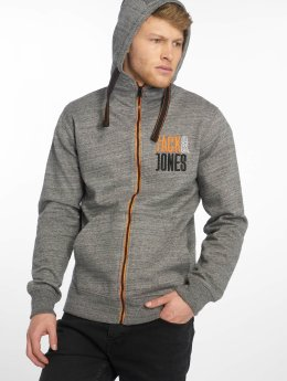 Jack & Jones Zip Hoodie Jcobest gray