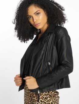 JACQUELINE de YONG Leather Jacket jdyDana Faux black