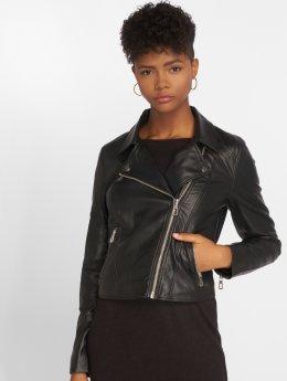 JACQUELINE de YONG Leather Jacket Jdyesma  black