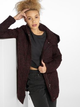 JACQUELINE de YONG Manteau jdyDemea Hooded Boucle rouge